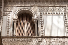 Lattice window from the Royal Alcazar of Sevilla Stock Photo