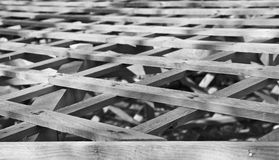 Lattice Wood roof Stock Photography