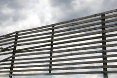 Lattice of wooden planks Stock Image