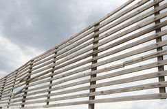 Lattice of wooden planks Stock Images