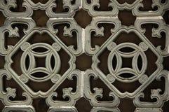 Lattice Work. An ornamental window lattice work at the traditional village of Kat Hing Wai, Hong Kong, China royalty free stock photo