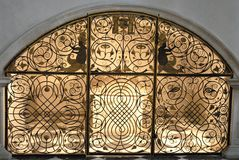 Lattice wrought iron. Photo taken inside the church Hofkirche court which is located in Innsbruck (Austria). Immediately next to the church is stock photos