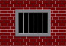 latticed окно тюрьмы Стоковое Изображение