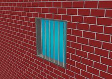 Latticed prison window Royalty Free Stock Photography