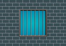 Latticed prison window Royalty Free Stock Photos