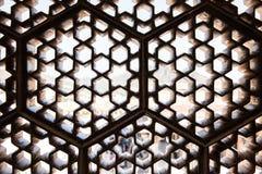 Latticed Windows i Amer Fort Royaltyfri Bild