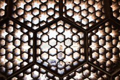 Latticework in Amber Fort Royalty Free Stock Photo