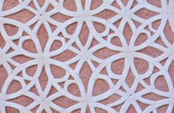 Latticework. Design and drawing of a latticework in a wall Stock Photography