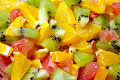 Lattuga da frutta differente tropicale. Fotografia Stock