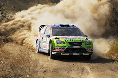 Latvala on WRC stages from Greece Royalty Free Stock Photos