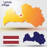 latvia libre illustration