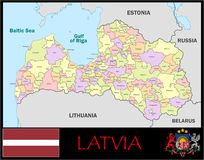 Latvia Administrative divisions Stock Photos