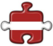 Latvia button flag puzzle shape Royalty Free Stock Image