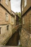 latvia Ci sono i canali della città a poca Venezia Fotografia Stock