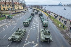 November 18th Independence Parade in Latvia. Royalty Free Stock Images