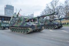 November 18th Independence Parade in Latvia. Royalty Free Stock Photo