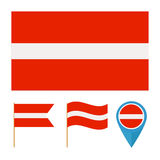 Latvia, country flag vector Royalty Free Stock Photo