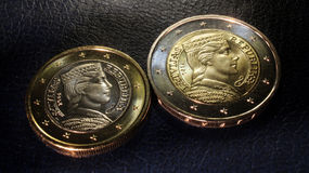 Latvia euro coins 2014. Original elaboration latvian euro coins royalty free stock photography