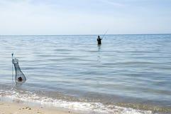 Latvia. The fisherman at the coast of  Baltic Sea Stock Photos