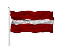 Latvia Flag 2 Stock Photo