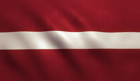 Latvia Flag. Background with fabric texture Royalty Free Stock Photos