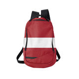 Latvia flag backpack isolated on white Stock Image