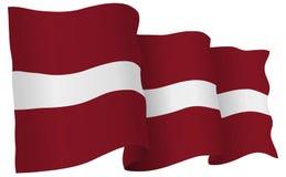 Latvia Flag Waving Vector Illustration Stock Photo