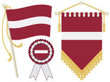 Latvia flags Royalty Free Stock Image