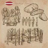 Latvia. Freehand vectors. Hand drawn collection. Line art. Stock Photo