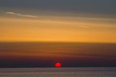 latvia Il golfo di Riga Presto sarà scuro Fotografie Stock Libere da Diritti