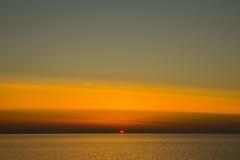 latvia Il golfo di Riga Presto sarà scuro Immagine Stock Libera da Diritti