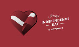 Latvia Independence Day. 18 November. Waving flag in heart. Vector. Latvia Independence Day. 18 November. Waving flag in heart. Vector illustration Royalty Free Stock Images
