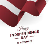 Latvia Independence Day. 18 November. Waving flag. Vector. Latvia Independence Day. 18 November. Waving flag. Vector illustration Stock Image