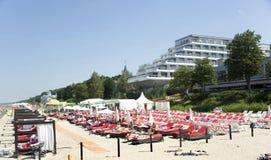 Latvia, Jurmala. Recreation area at hotel. Royalty Free Stock Photo