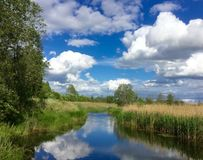 latvia Latgale Rezekne region Royaltyfri Bild