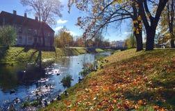 latvia Latgale Rezekne stad Arkivfoton