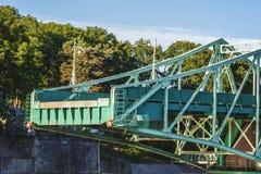 Latvia Liepaja. Cut-off bridge royalty free stock images