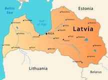 Latvia map stock photo