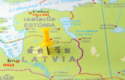 Latvia map Royalty Free Stock Photo