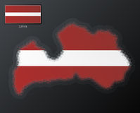 Latvia modern halftone Stock Images