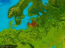 Latvia on physical map Royalty Free Stock Photo