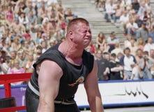 latvia riga Напряжение предела спортсмена на конкуренции Стоковые Изображения