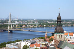 Latvia, Riga. Panorama of Riga Stock Image