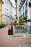 Latvia, Riga, café da rua fotografia de stock royalty free