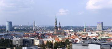 Latvia, Riga. City panorama. Stock Images