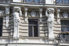 Latvia, Riga. Decoration of a facade of the buildi Royalty Free Stock Image