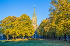 Latvia, Riga, old town center, Church and architecture. Streets. And park. 2017 Stock Images