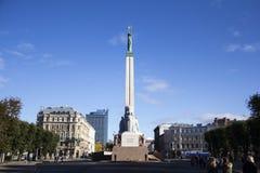 Latvia: Riga wolność Zabytek Obraz Royalty Free