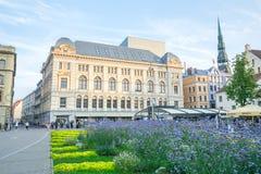 Latvia, Ryski, stary grodzki centrum, zaludnia i architektura 2017 zdjęcia royalty free