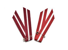 Latvia's flag ribbon Royalty Free Stock Photo